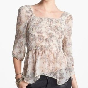 Free People 'Ever After' Romantic Blouse
